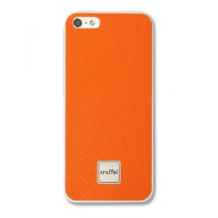 iPhone SE/5s/5 ケース 上質なイタリアンレザー使用 スキンシール Autograph オレンジ iPhone SE/5s/5_0