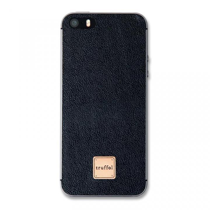 iPhone SE/5s/5 ケース 上質なイタリアンレザー使用 スキンシール Autograph ブラック iPhone SE/5s/5_0