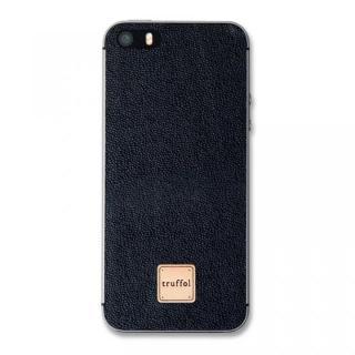 上質なイタリアンレザー使用 スキンシール Autograph ブラック iPhone SE/5s/5