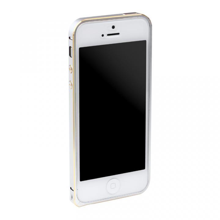 6g軽量アルミバンパー Essence Bumper シルバー iPhone SE/5s/5バンパー