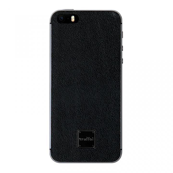 【iPhone SE/5s/5ケース】上質なイタリアンレザー使用 スキンシール Autograph ブラック(ロゴ黒) iPhone SE/5s/5_0