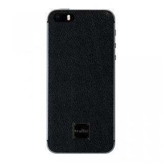 上質なイタリアンレザー使用 スキンシール Autograph ブラック(ロゴ黒) iPhone SE/5s/5