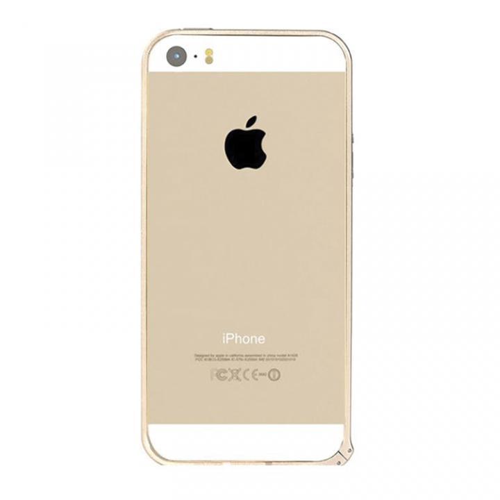 iPhone SE/5s/5 ケース 6g軽量アルミバンパー Air ゴールド iPhone SE/5s/5バンパー_0