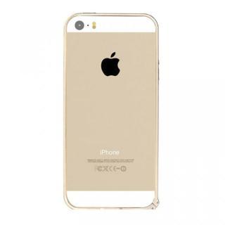 6g軽量アルミバンパー Air ゴールド iPhone SE/5s/5バンパー