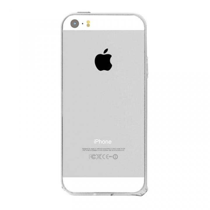 【iPhone SE/5s/5ケース】6g軽量アルミバンパー Air シルバー iPhone SE/5s/5バンパー_0