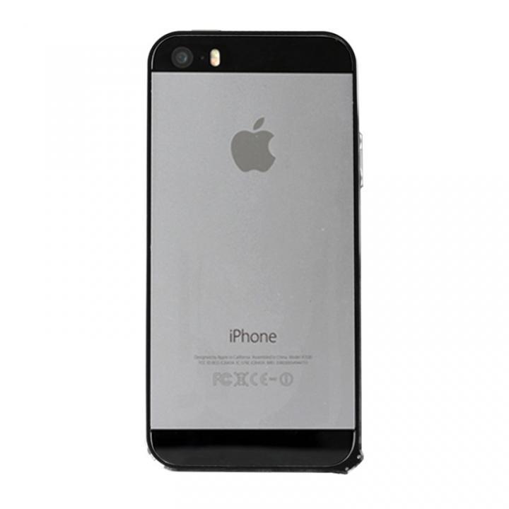 iPhone SE/5s/5 ケース 6g軽量アルミバンパー Air ブラック iPhone SE/5s/5バンパー_0