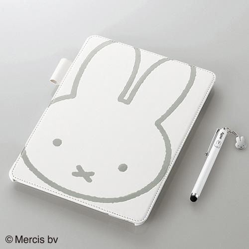 iPad Air/レザーカバー/ミッフィー/ホワイト