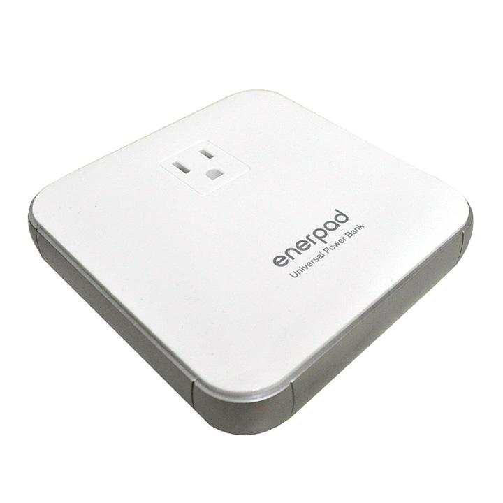 [12000mAh]リンクス ACコンセント付きモバイルバッテリー enerpad ホワイト_0