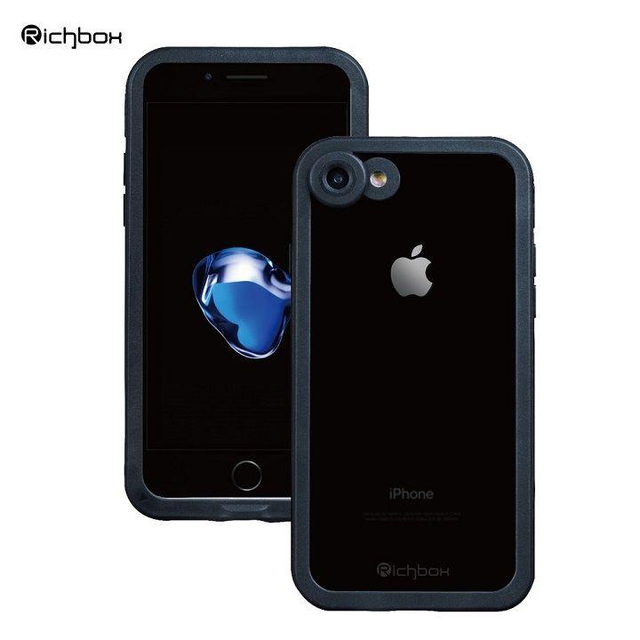 【iPhone7ケース】超薄型 軽量防水ケース IP68 ブラック iPhone 7_0