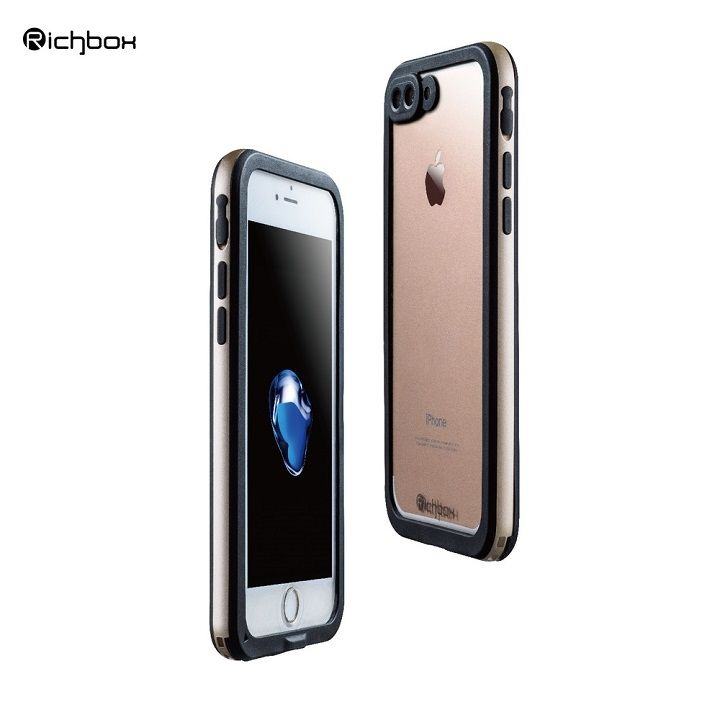 iPhone7 Plus ケース 超薄型 軽量防水ケース IP68 ゴールド iPhone 7 Plus_0
