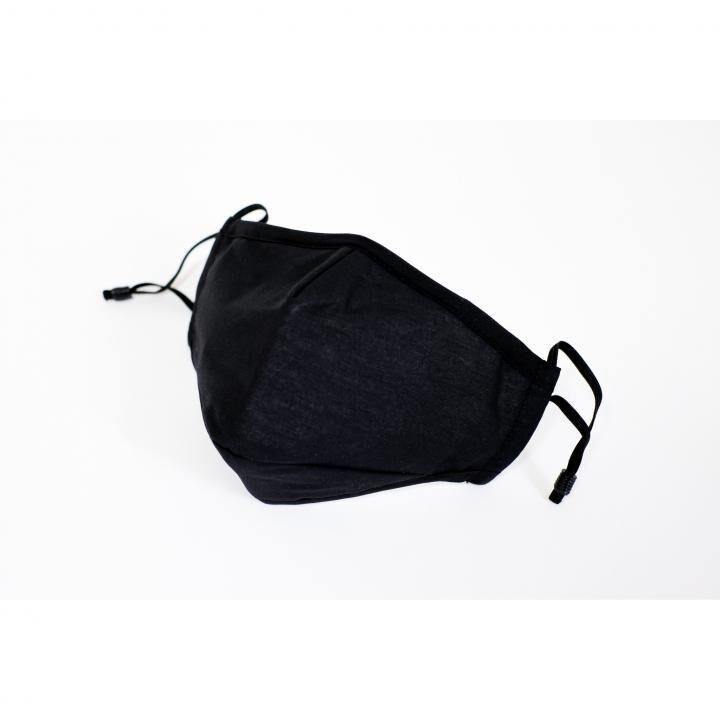 銅イオン抗菌コットンマスク 2枚組 ブラック_0