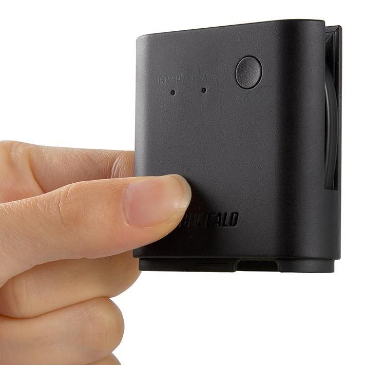 旅行先のホテルでも高速Wi-Fi QRsetup エアステーション 無線LAN親機 ブラック_0