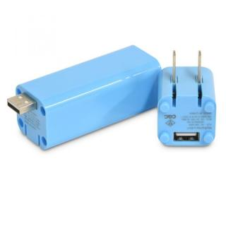 [3000mAh] USB-ACアダプタ一体型 モバイルバッテリー MyBattery 2 in 1 ブルー?送料無料