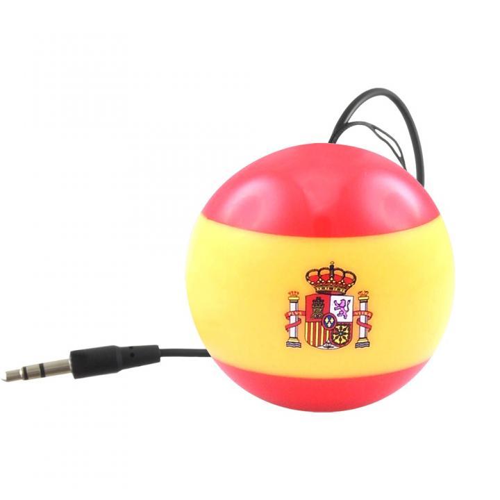 国旗デザインポータブルスピーカー Kitsound Mini Buddy スペイン_0