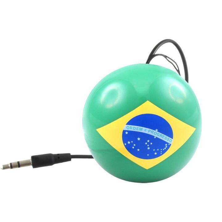 国旗デザインポータブルスピーカー Kitsound Mini Buddy ブラジル_0