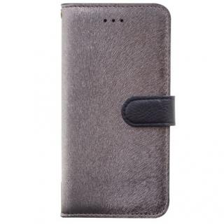 iPhone6s/6 ケース イタリアンPUレザー手帳型ケース CALF Diary メタルブラック iPhone 6s/6