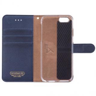 【iPhone6ケース】イタリアンPUレザー手帳型ケース CALF Diary ネイビーブルー iPhone 6_1