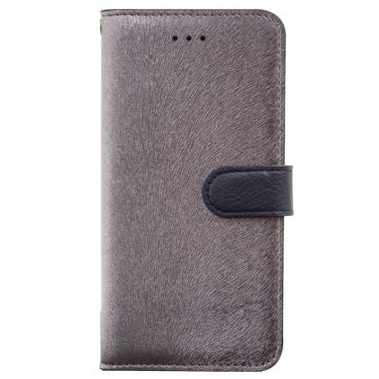 iPhone6s Plus/6 Plus ケース イタリアンPUレザー手帳型ケース CALF Diary メタルブラック iPhone 6s Plus/6 Plus_0