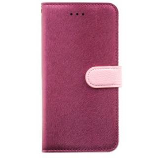 イタリアンPUレザー手帳型ケース CALF Diary ワインピンク iPhone 6s Plus/6 Plus