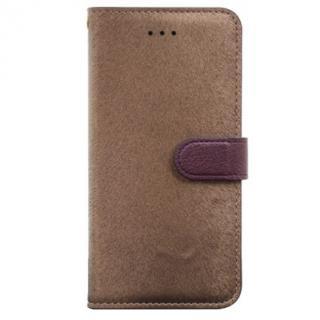 イタリアンPUレザー手帳型ケース CALF Diary ゴールデンブラウン iPhone 6 Plus