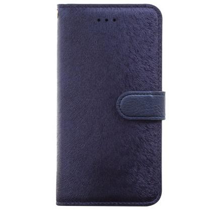 iPhone6 Plus ケース イタリアンPUレザー手帳型ケース CALF Diary ネイビーブルー iPhone 6 Plus_0