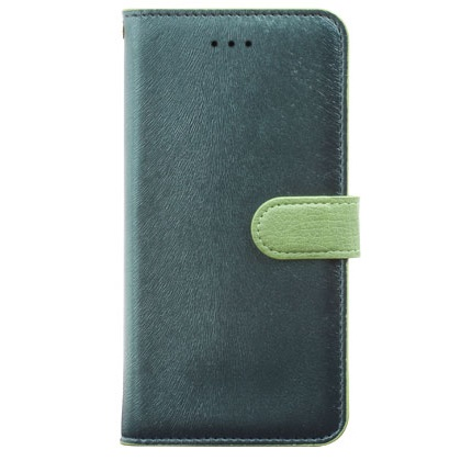 iPhone6 Plus ケース イタリアンPUレザー手帳型ケース CALF Diary フォレストグリーン iPhone 6 Plus_0