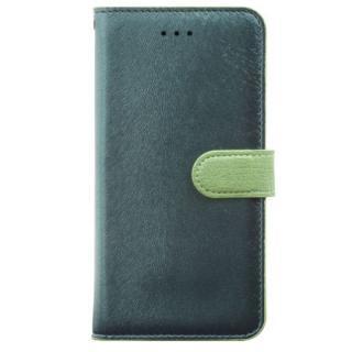イタリアンPUレザー手帳型ケース CALF Diary フォレストグリーン iPhone 6 Plus
