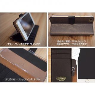 【iPhone6ケース】イタリアンPUレザー手帳型ケース CALF Diary ネイビーブルー iPhone 6_2