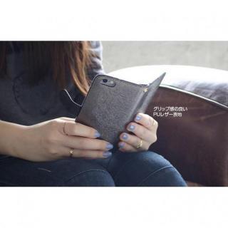【iPhone6ケース】イタリアンPUレザー手帳型ケース CALF Diary ネイビーブルー iPhone 6_3