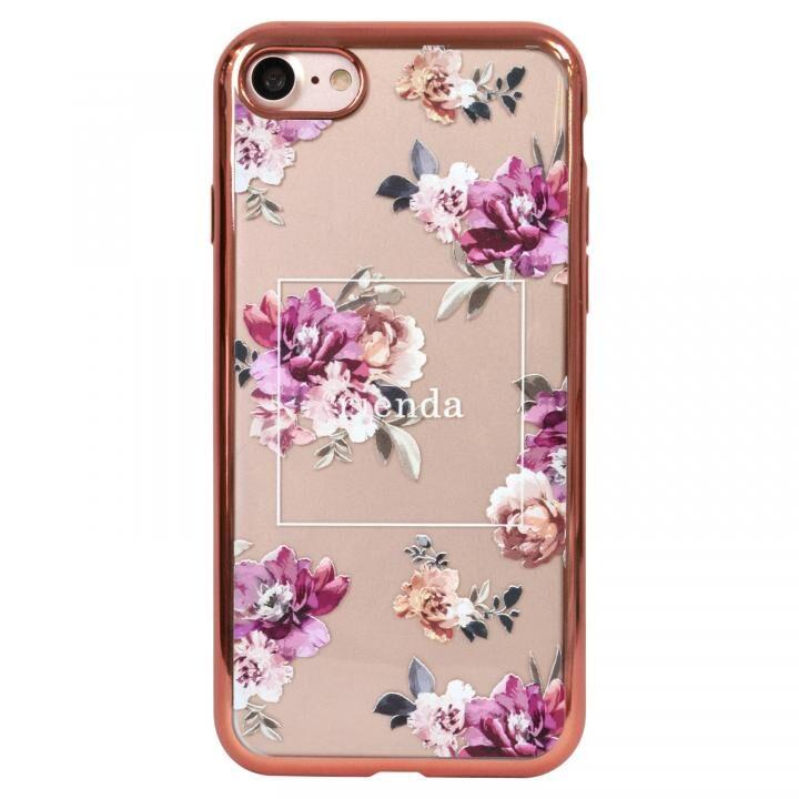 iPhone8 ケース rienda メッキクリアケース Brilliant Flower/バーガンディー iPhone SE 第2世代/8/7_0