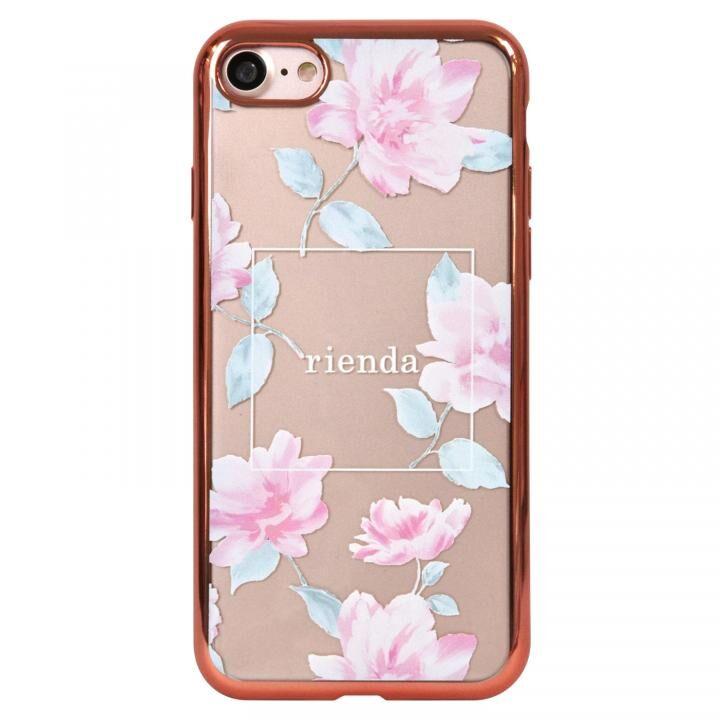 iPhone8 ケース rienda メッキクリアケース Lace Flower/ピンク iPhone SE 第2世代/8/7_0