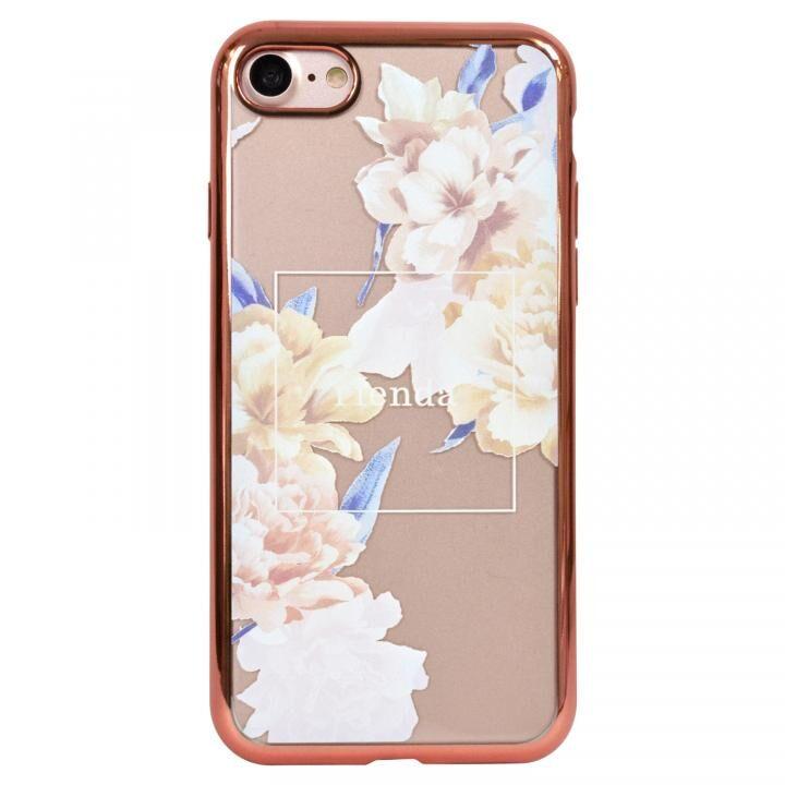 iPhone8 ケース rienda メッキクリアケース Reversi Flower/ベージュ iPhone SE 第2世代/8/7_0
