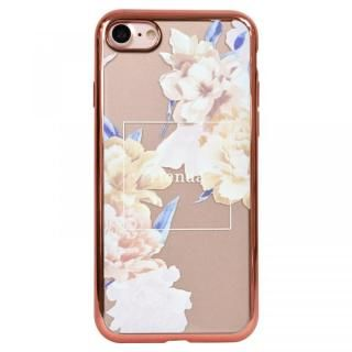 iPhone8 ケース rienda メッキクリアケース Reversi Flower/ベージュ iPhone 8