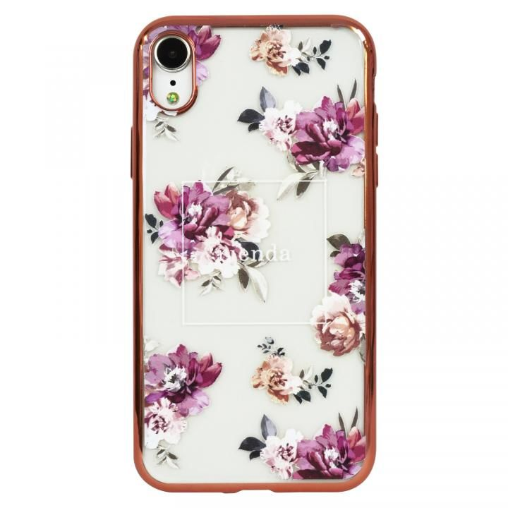 iPhone XR ケース rienda メッキクリアケース Brilliant Flower/バーガンディー iPhone XR_0