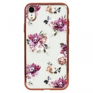 iPhone XR ケース rienda メッキクリアケース Brilliant Flower/バーガンディー iPhone XR