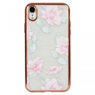 iPhone XR ケース rienda メッキクリアケース Lace Flower/ピンク iPhone XR