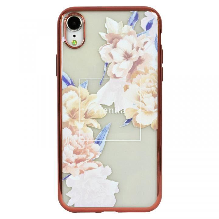 iPhone XR ケース rienda メッキクリアケース Reversi Flower/ベージュ iPhone XR_0