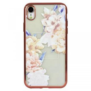 iPhone XR ケース rienda メッキクリアケース Reversi Flower/ベージュ iPhone XR