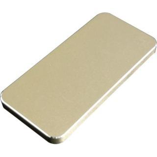 [4300mAh] iPhone 5s/5のケースが装着できる モバイルバッテリー ゴールド microUSBケーブル