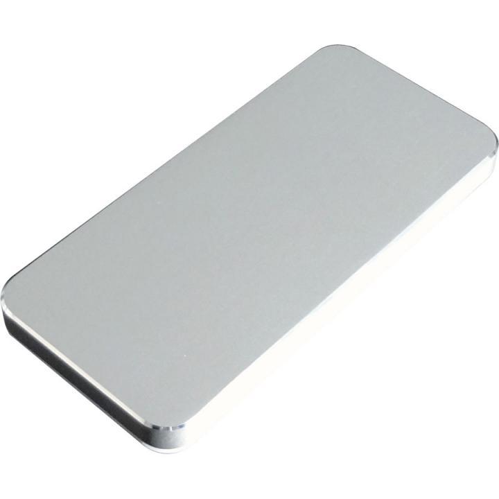 [4300mAh] iPhone 5s/5のケースが装着できる モバイルバッテリー シルバー microUSBケーブル_0