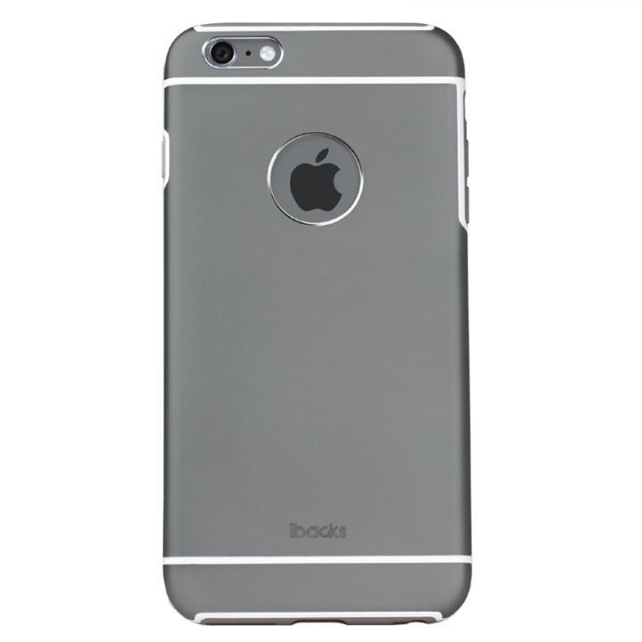 耐衝撃性アルミケース ibacks Essence Armor グレイ iPhone 6