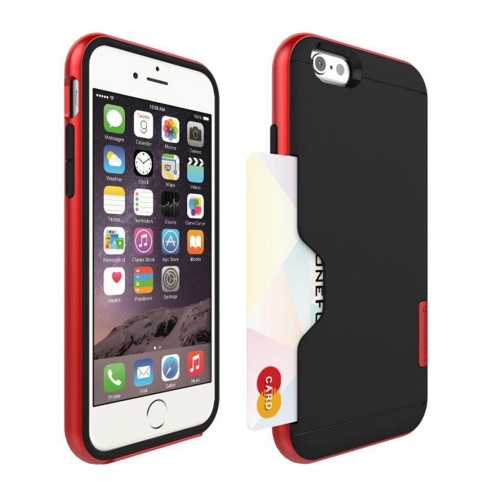 iPhone6 ケース PhoneFoam LINE カード収納機能付きケース ローズレッド iPhone 6_0