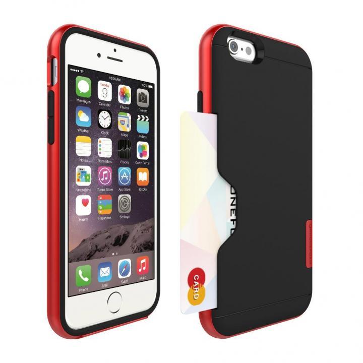 PhoneFoam LINE カード収納機能付きケース ローズレッド iPhone 6