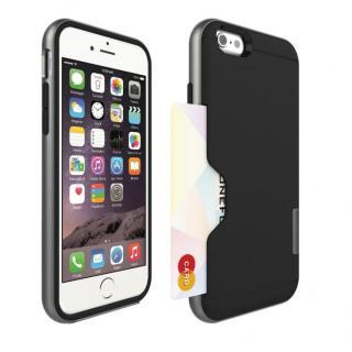 PhoneFoam LINE カード収納機能付きケース ダークシルバー iPhone 6