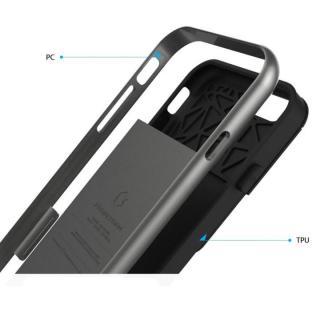 【iPhone6ケース】PhoneFoam LINE カード収納機能付きケース ダークシルバー iPhone 6_4