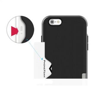 【iPhone6ケース】PhoneFoam LINE カード収納機能付きケース ダークシルバー iPhone 6_6