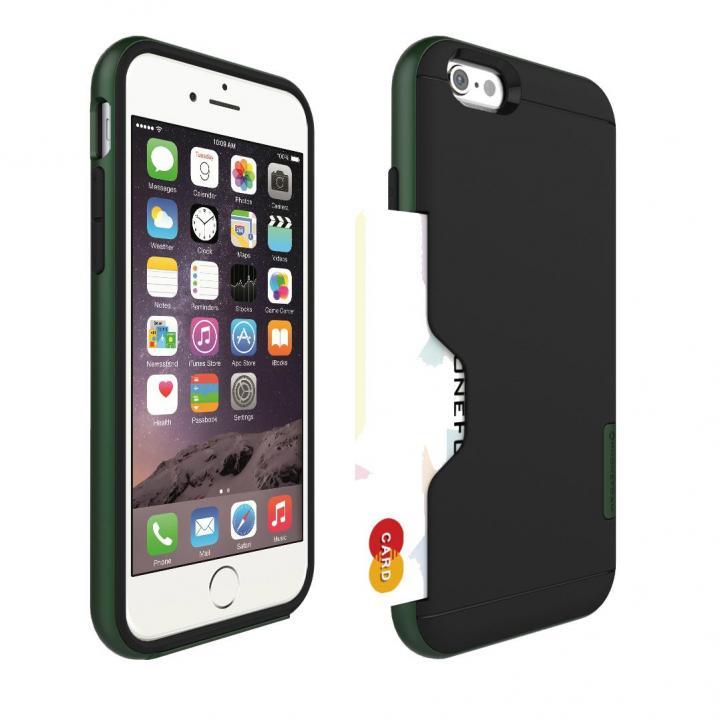 【iPhone6ケース】PhoneFoam LINE カード収納機能付きケース ハンターグリーン iPhone 6_0