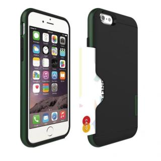 PhoneFoam LINE カード収納機能付きケース ハンターグリーン iPhone 6