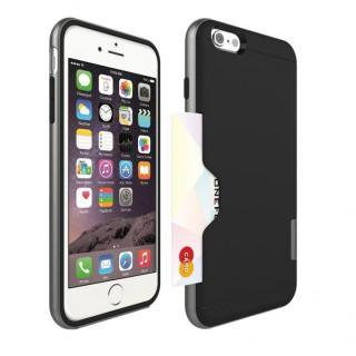 PhoneFoam LINE カード収納機能付きケース ダークシルバー iPhone 6 Plus