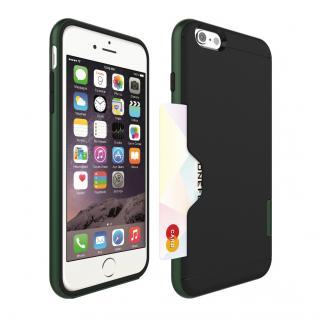 PhoneFoam LINE カード収納機能付きケース ハンターグリーン iPhone 6 Plus